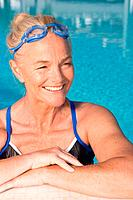 Mature woman in swimming pool