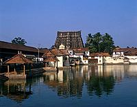 Sri Padmanabhaswamy Temple is dedicated to Lord Vishnu. It has a 100 foot high seven tier gopuram.