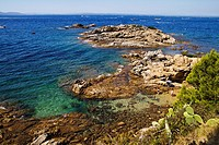 Punta de la Omella, Roses, Costa Brava, Alt Emporda, Girona province, Catalonia, Spain