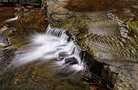Waterfall at Bowlees Country Park, Teesdale, County Durham, England