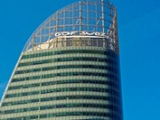 Paris, France, GDF-Suez Corporate Building in La D&#233;fense Business Center, Logo, Detail, Top