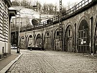 old viaduct in Prague