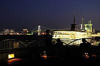 Takeshiba pier at night, Minato Ward, Tokyo Prefecture, Honshu, Japan