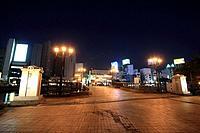 Fukuhaku Deai bridge at night, Fukuoka City, Fukuoka Prefecture, Kyushu, Japan