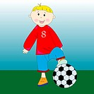 little football player, vector art illustration more drawings in my gallery