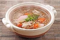 Soba rice soup