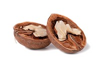 Halves of walnut