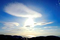 Clouds in sky and silhouette of mountain ranges, Kamakura city, Kanagawa prefecture, Japan