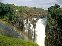 The Victoria Falls,also known as the Flight of angels,Mosi_oa_Tunya or Smoke that Thunders,is located on tha Zambezi River between Zambia and Zimbabwe...