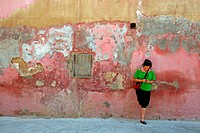 peeling wall, Tortosa, Catalonia, Spain