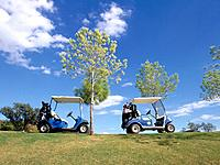 Golf cars are often used to transport small numbers of people short distances at relatively slow speeds in order to speed up a round of golf