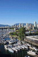 Canada, British Columbia, Vancouver, False Creek, Granville Island Marina.