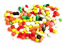 multicolor medicines and vitamins