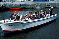 Korenlei,waterway. Passenger boat,tour.