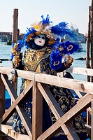 Person in costume during Carnivale in Venice, Veneto, Italy