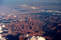 USA, Arizona, Grand Canyon National Park, Aerial View