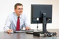 Businessman working with computer
