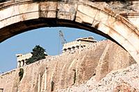 parthenon through arch