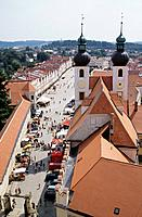 A UNESCO World Heritage Site,Telc was founded in the mid_14th century,and is a walled city built around the foot of a large castle,and there is a long...