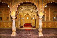 Anup Mahal,a palace in Junagarh Fort,Bikaner,Rajasthan,India
