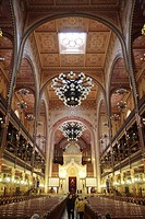 Hungary, Budapest, Great Synagogue, interior.