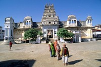 India, Rajasthan, Pushkar, hindu temple