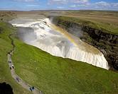 Gullfoss Waterfalls, Iceland Known as Golden Falls