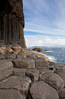 Staffa island near Isle of Mull, Argyll and Bute, Scotland