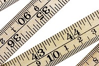 ruler with metric and inch system