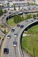 INTERCHANGE AT INTERSTATE 5 HIGHWAY SEATTLE WASHINGTON STATE USA