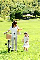 Mother and Daughter, Mother with Bicycle