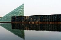 glass pyramid of chateau dynasty winery, tianjin china