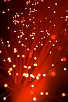 close_up of colorful fibre optics