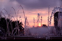 Spain, Salou luminous fountain