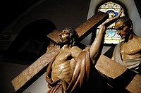 Image of Jesus carrying the Cross, Basilica de Llanes, Asturias. Spain