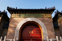 doorway to the temple of heaven, beijing, china