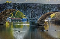 stone bridge over river barrow, graiguenamanagh, county kilkenny, ireland