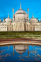 Royal, Pavilion, Brighton, East, Sussex, England , Onion shaped dome of19th Century Royal Pavilion designed in Indo- Saracenic style by John Nash