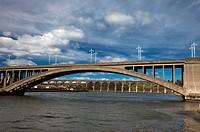 a bridge over a river tweed, berwick_upon_tweed northumberland englad