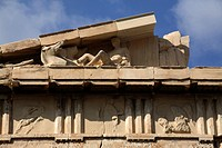 Detail of the top of the Parthenon, Athens, Greece