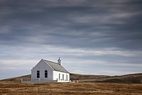 rural church, shetland scotland