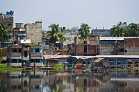 Waterfront Along Buriganga River, Dhaka, Bangladesh