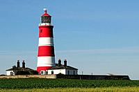 England, Norfolk, Happisburgh. Happisburgh Lighthouse built in 1790, the oldest working light in East Anglia