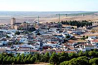 Overview of Belmonte, Cuenca, Castilla La Mancha, Spain