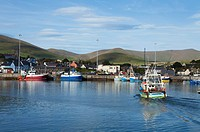 fishing harbor, dingle town dingle peninsula county kerry ireland