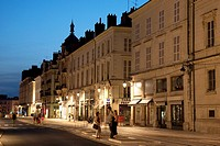 Illuminated Building of Jeanne d'Arc Street, Orleans, France