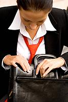 businesswoman with briefcase