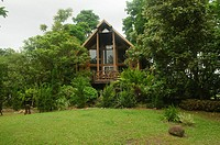 beautiful wooden log cabin near Chiang Mai, Thailand
