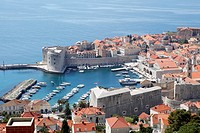 Adriatic Sea, Old_Port, Old_Town, Old_Town of Dubrovnik, Dubrovnik, Dalmatia, Croatia, Eastern Europe, Europe, UNESCO, World Heritage