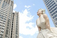 The 26 foot tall sculpture of Marilyn Monroe was recently unveiled on Michigan Avenue near Wacker Drive  The statue of Marilyn is the same pose of the...